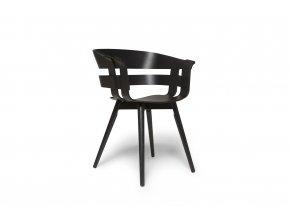 WickChair BlackSeat BlackLegs 45 iso