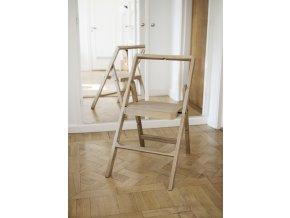 Skládací židle/stupínek Mini Step dub přírodní