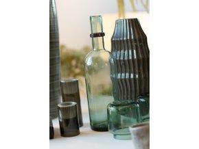 Dekorativní lahev ze skla