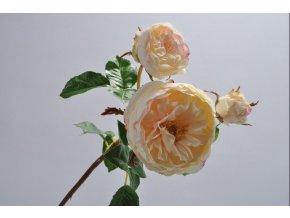 RŮŽE SILK-KA - světle růžová - 59 cm