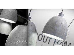 Závěsné světlo Malaga betonové