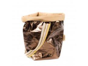 74 laminovana taska carry bag uashmama s jednim popruhem bronzova
