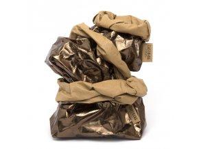 Laminovaný papírový sáček Uashmama bronzový/hnědý (Velikost XL)