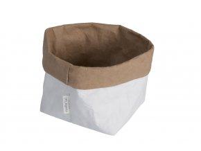 Essential papírový sáček bílohnědý (Essent'ial velikosti sáčků S 13x9x10cm)