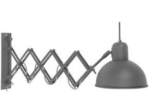 Nástěnná lampa Aberdeen šedozelená