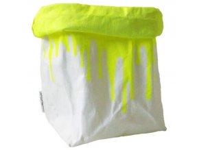 Essential Papírový sáček fosforově žlutý (Essent´ial velikosti sáčků FLUO & COLOR XXL 30x16x62cm)