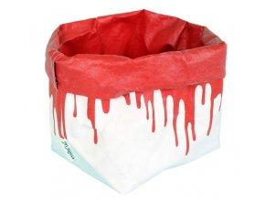 Essential Papírový sáček fosforově červený (Essent´ial velikosti sáčků FLUO & COLOR M 10x12x29/13cm)