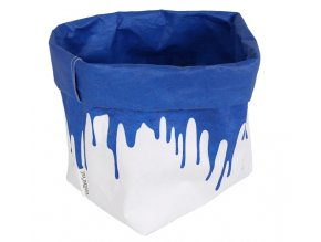 Essential Papírový sáček fosforově modrý (Essent´ial velikosti sáčků FLUO & COLOR M 10x12x29/13cm)