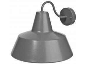 Venkovní nástěnná lampa Chicago šedá