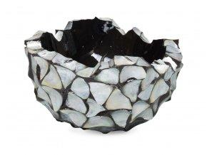 21956 Muschel Schale Perlmutt silber blau