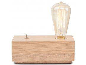 Stolní lampa Kobe kvádr dřevená