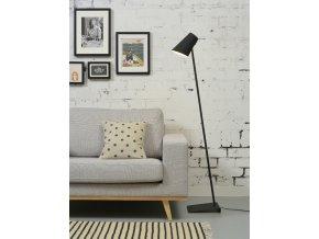 Stojací lampa Cardiff černá