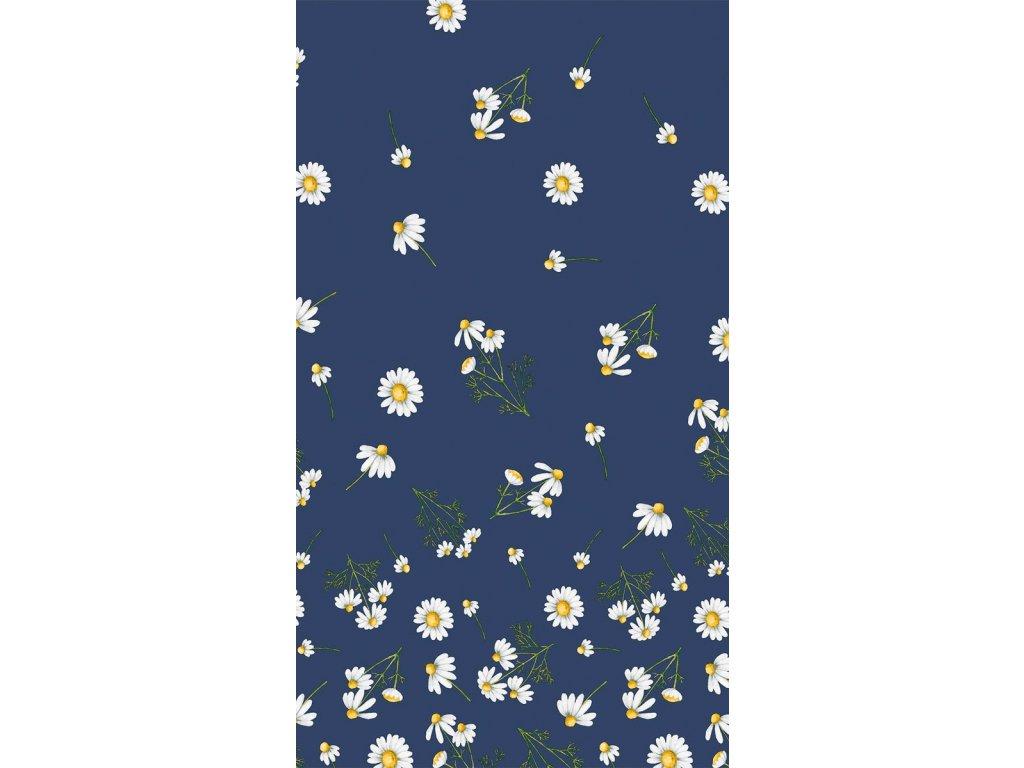 UBRUS daisy blue 220 cm
