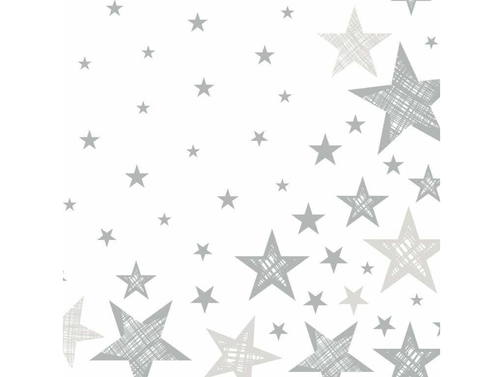 ubrousky shining white star 33 cm