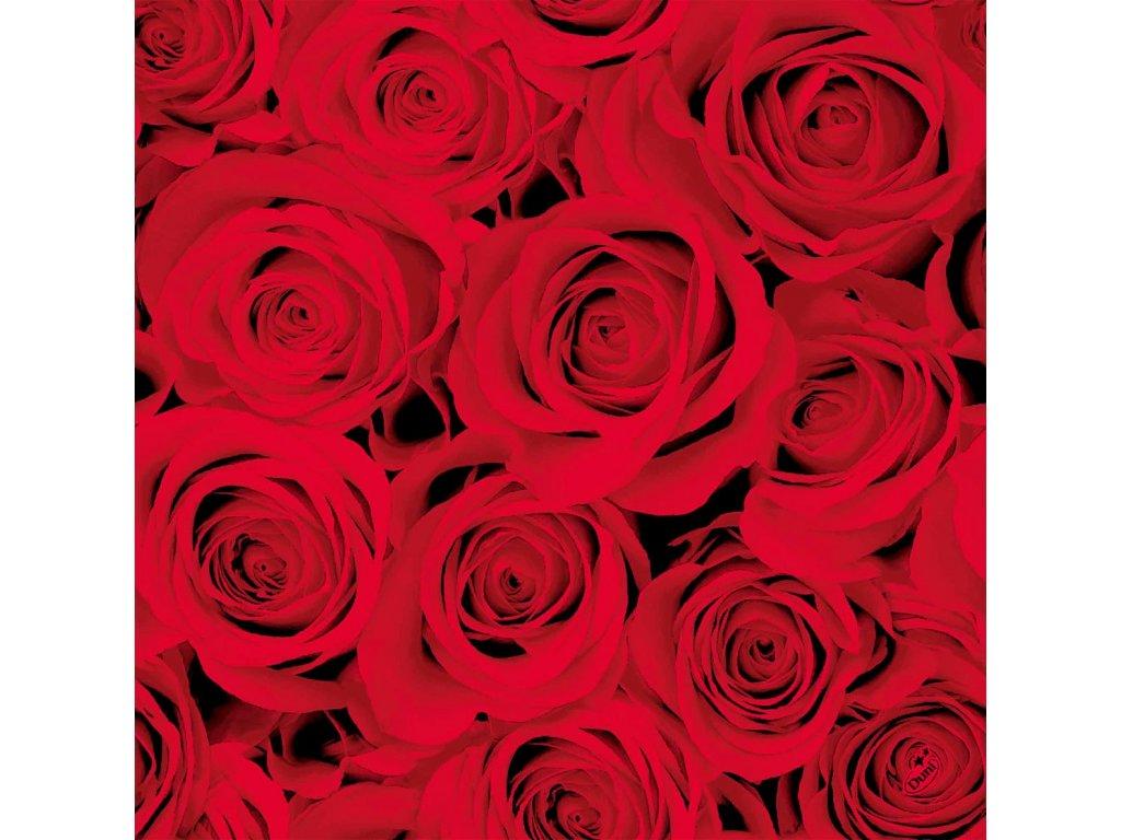 cervene ruze ubrousky 40 cm