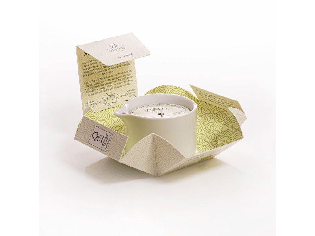 vivalu masazni svicka matcha tea 100 ml