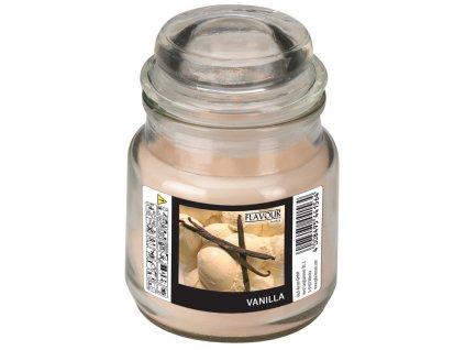 Vonná svíčka Vanilla ve skle s víkem malá