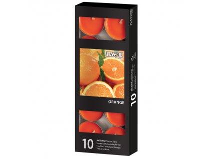 vonne svicky Orange 10 ks