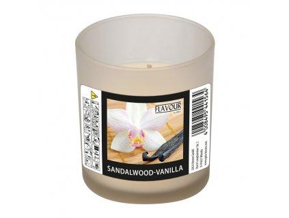 vonna svicka Sandalwood Vanilla v matnem skle Indro Vino