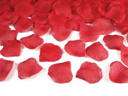 okvetni listky ruze cervene 100 ks