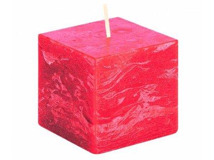 svicka kostka svetle cervena rustikalni 68 68 65