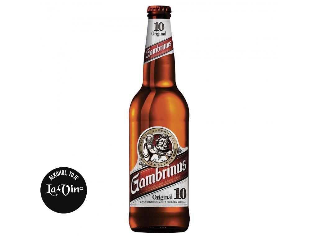 GAMBRINUS 10% 0.5L SKLO