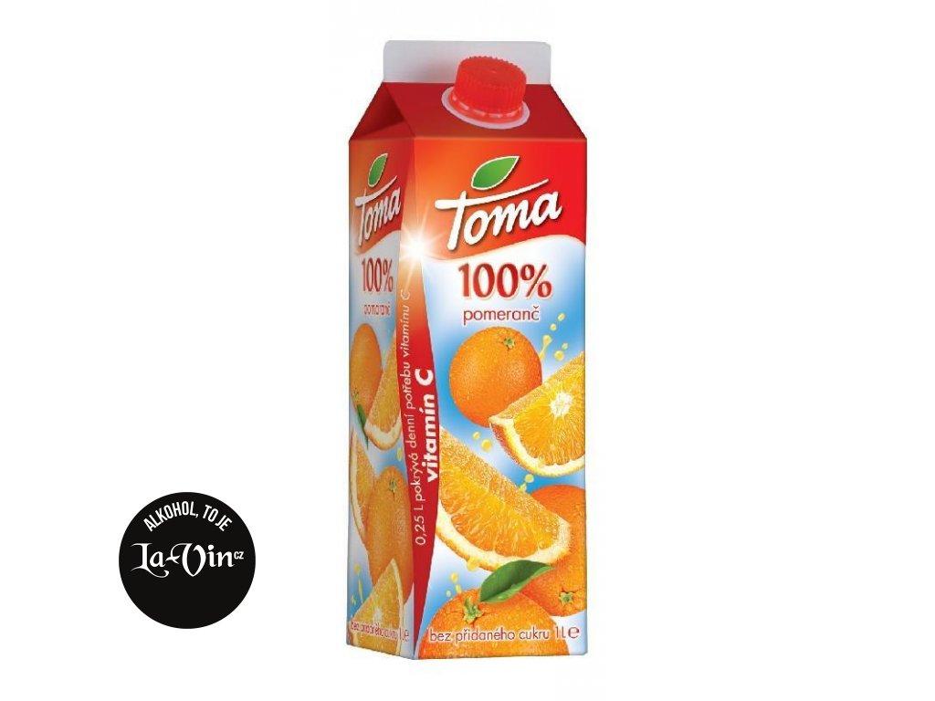 TOMA 100 % Pomerančová šťáva 1 L