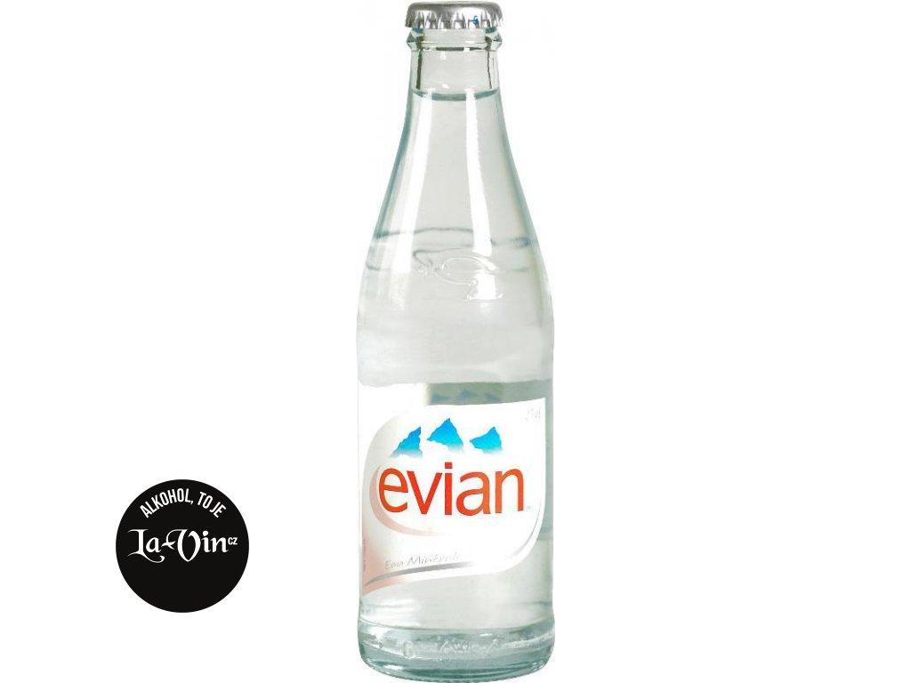 EVIAN  0,33 L Sklo