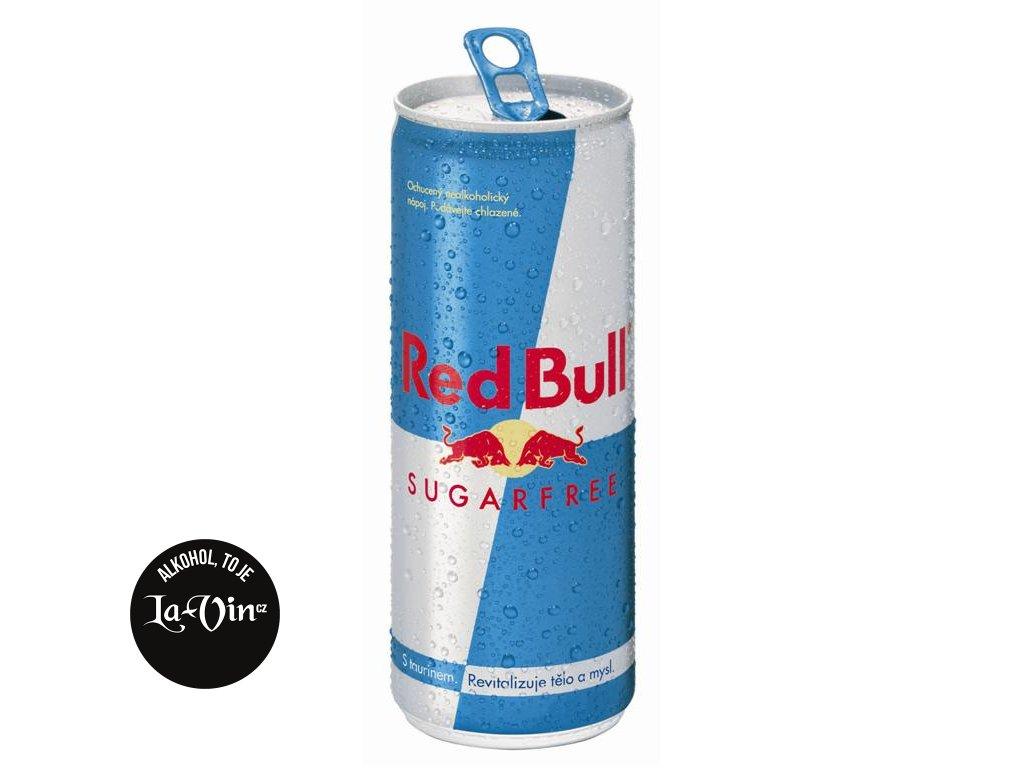 RED BULL SUGARFREE PLECH 0,25L