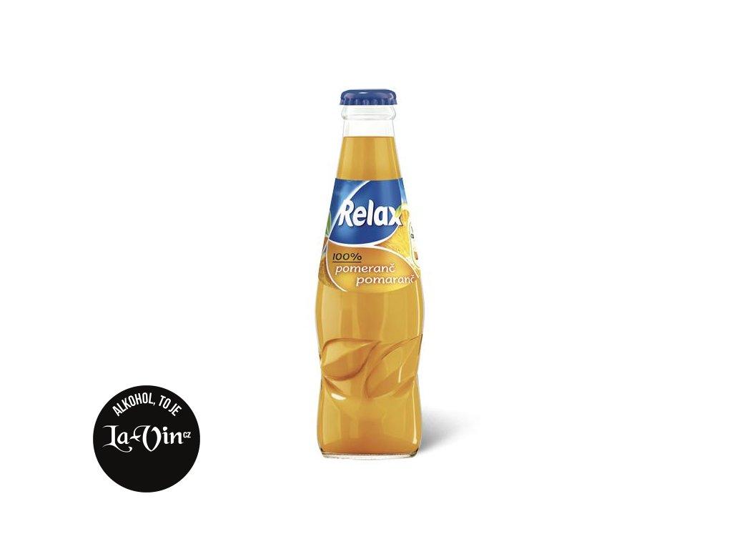 RELAX Pomeranč 100 % 0,25l