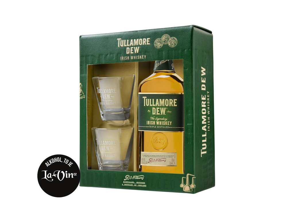 Tullamore Dew 0,7- kazeta 2 skleničky destilát