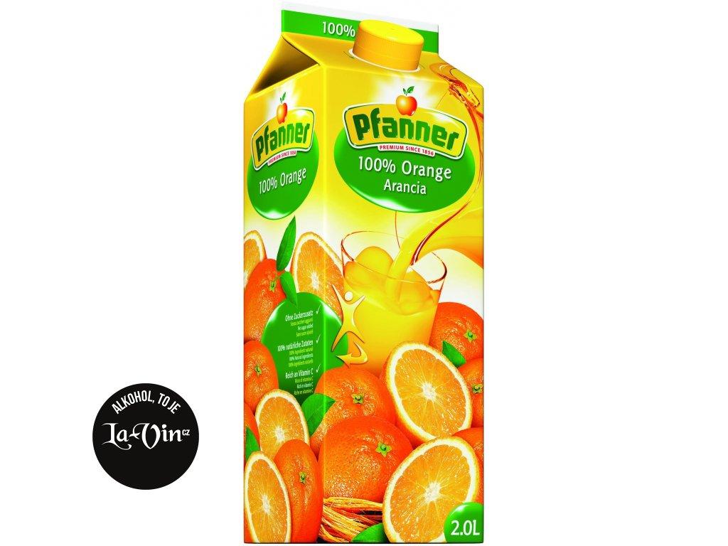 PFANNER 100 % Pomeranč 2 L