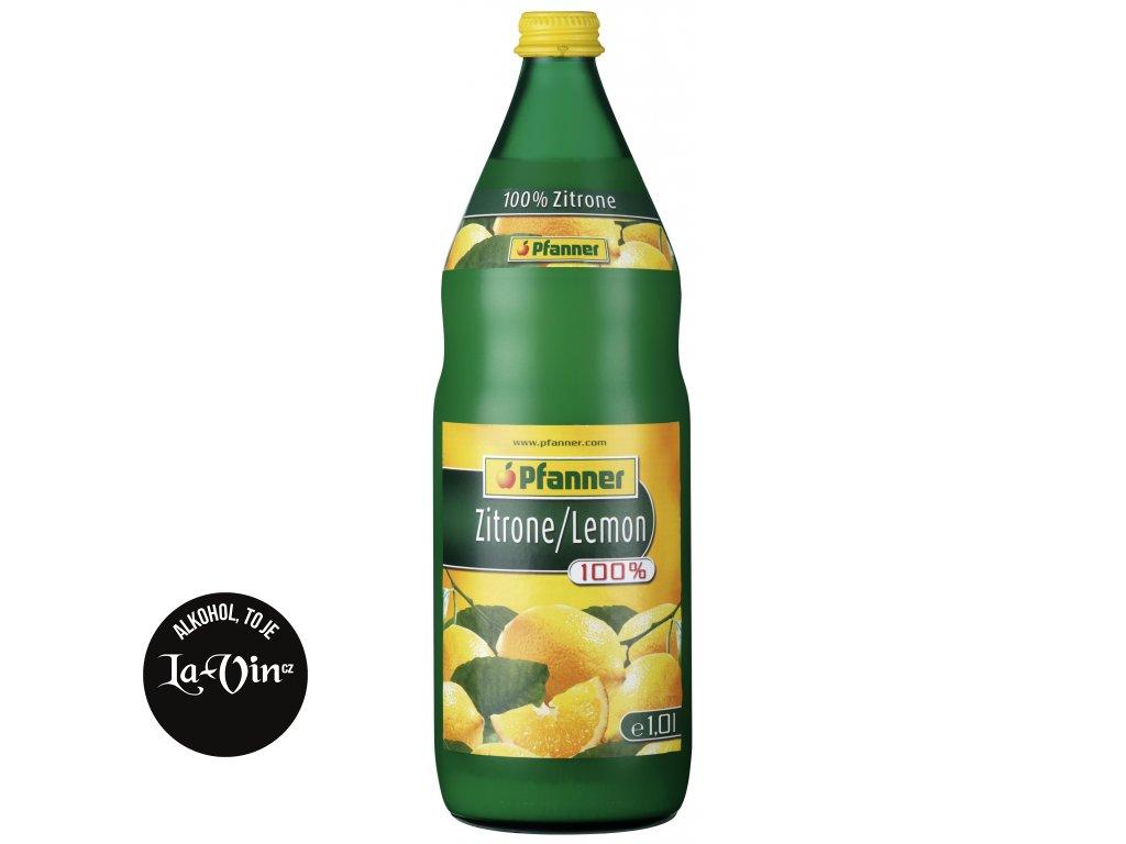 PFANNER 100 %  Citronová šťáva 1 L
