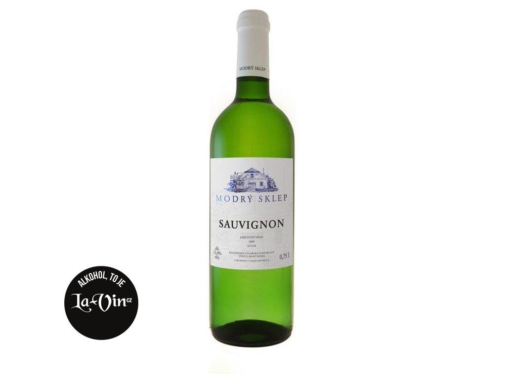 Modrý sklep Sauvignon jakostní 0,75l
