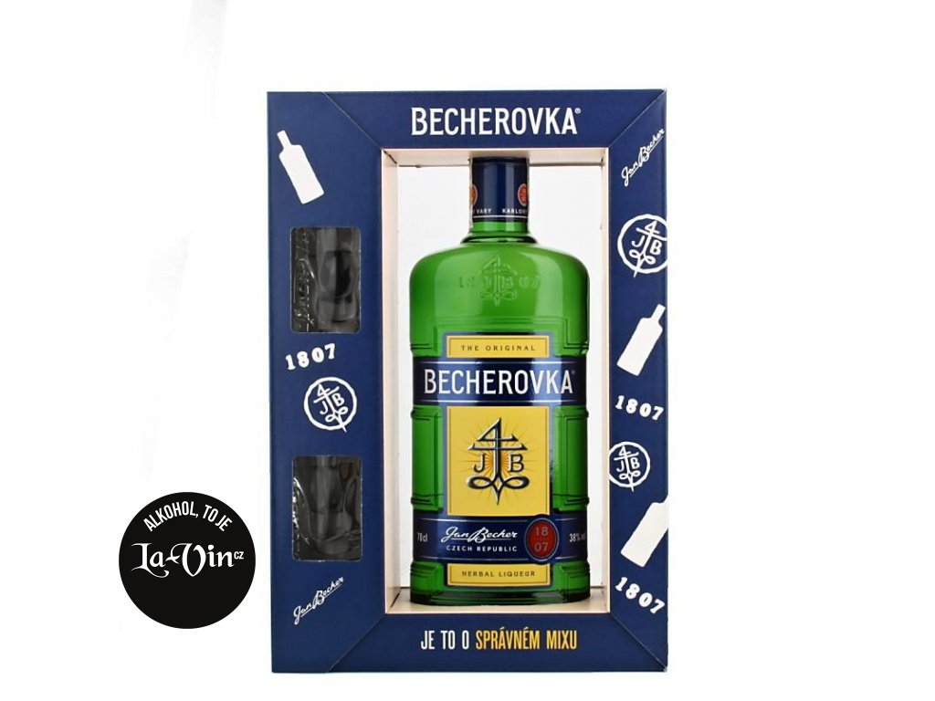 BECHEROVKA 0.7L + 2x SKLENKA 4CL
