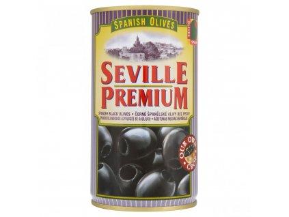 Černé olivy bez pecky Seville premium - plech 350g/150g