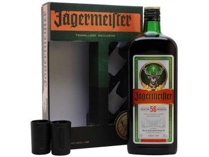 Jagermeister Party Pack 1,75l se 2 skleničkami a pumpičkou