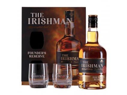 The Irishman Founder's Reserve se 2 skleničkami