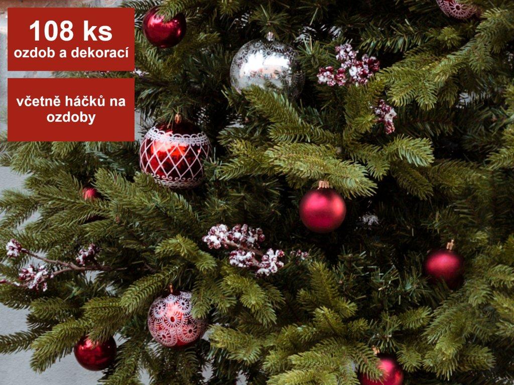 ZAPŮJČENÍ - Kolekce ozdob 108 ks VENKOVSKÁ IDYLKA
