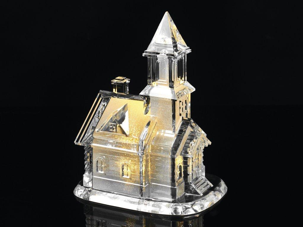 LED světelný dekorativní bílý KOSTEL 21 cm