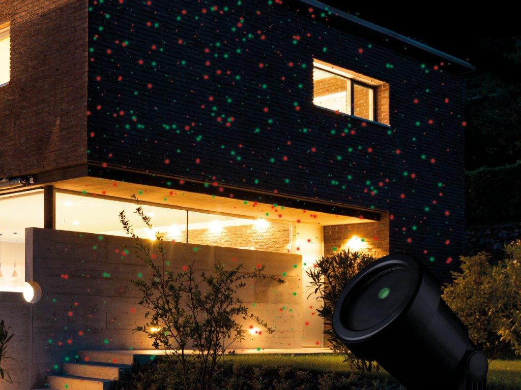 LED vánoční projektor světelný ZELENÉ / ČERVENÉ TEČKY