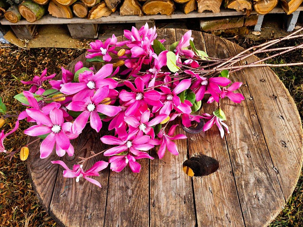 Květiny růžové 88 cm