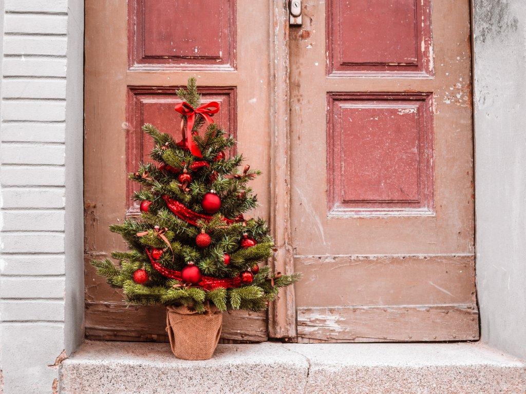 Vánoční stromek červený 75 cm