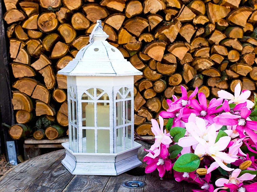 LED lucerna bílá 37 cm