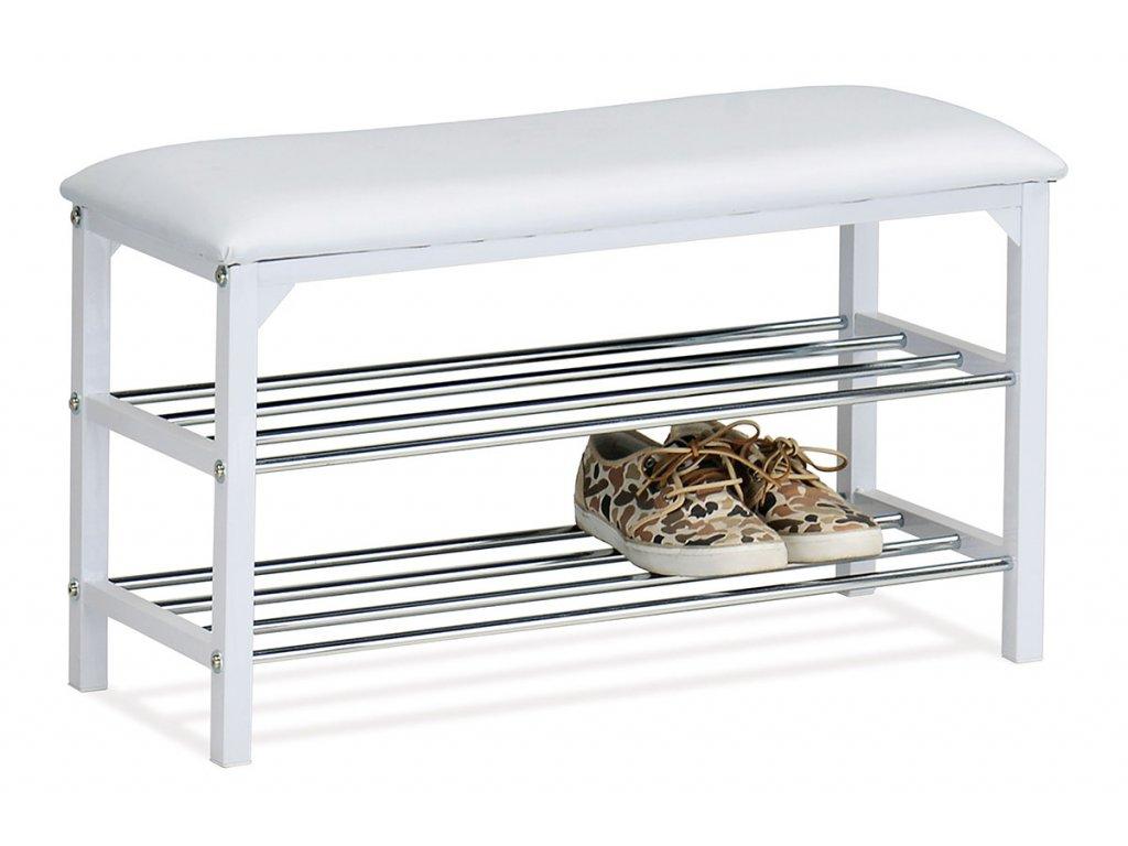 Botník / lavice bílá 45 x 76 cm