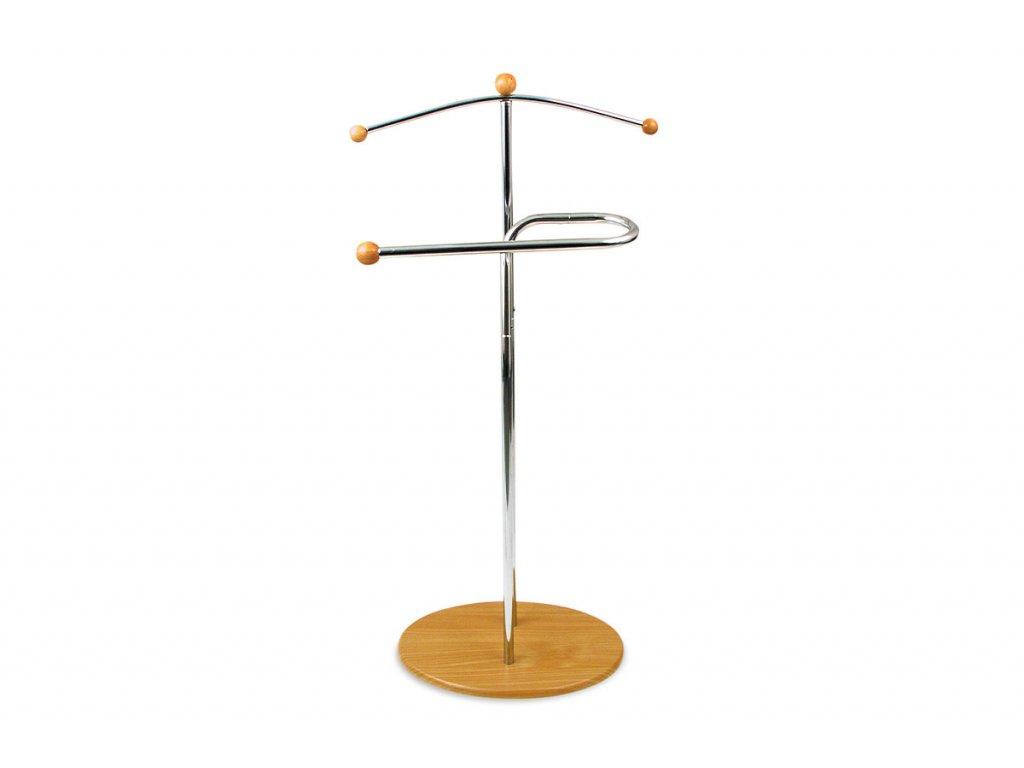 Němý sluha chrom / buk 46 x 110 cm