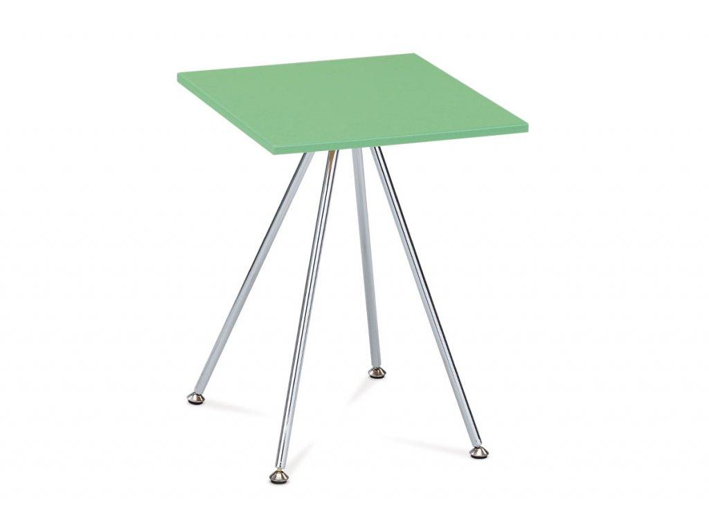 Odkládací stolek zelený / chrom 52 cm