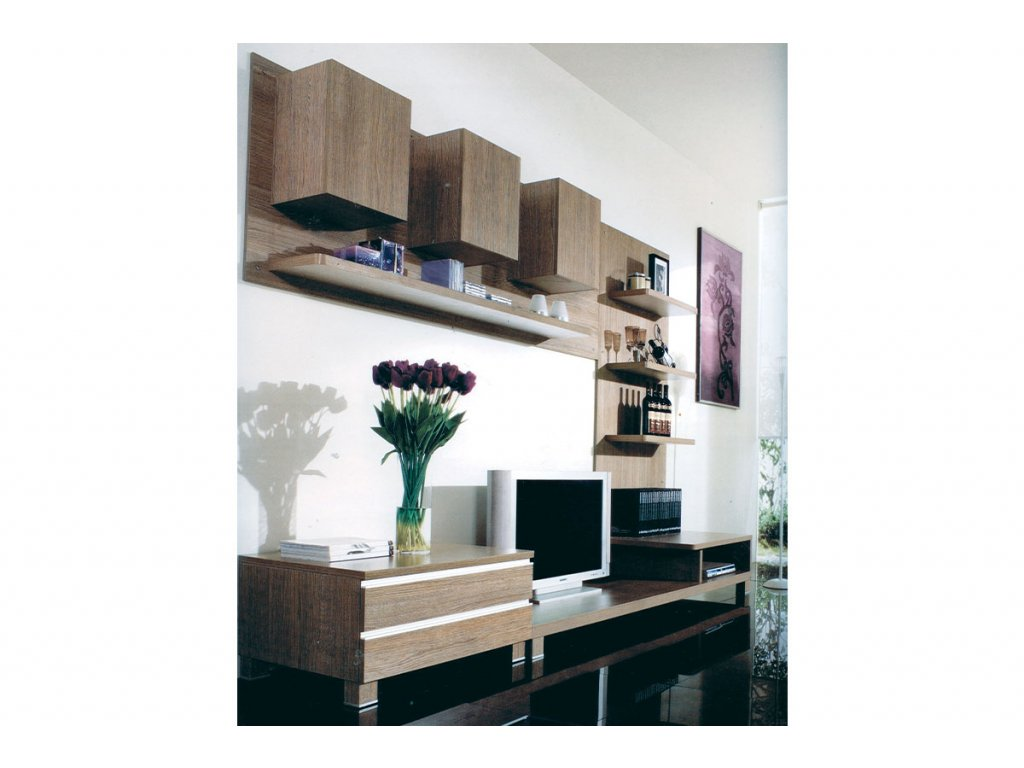 Obývací stěna dekor NOCE 300 x 59 x 210 cm