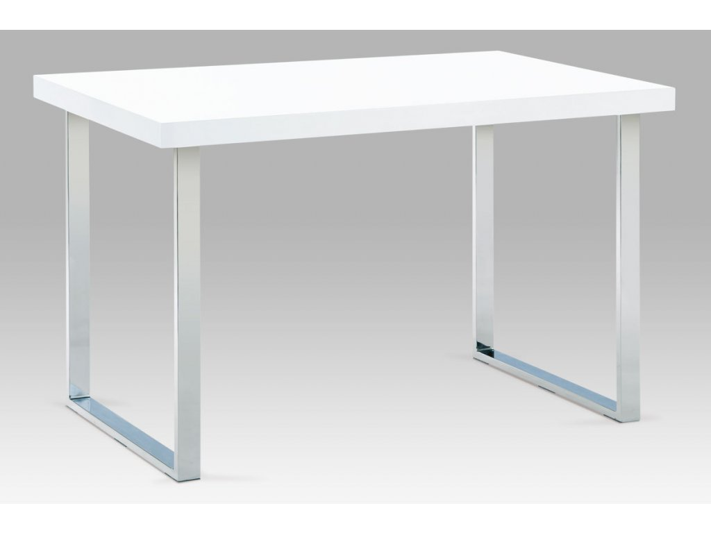 Jídelní stůl bílý / chrom 120 x 75 cm
