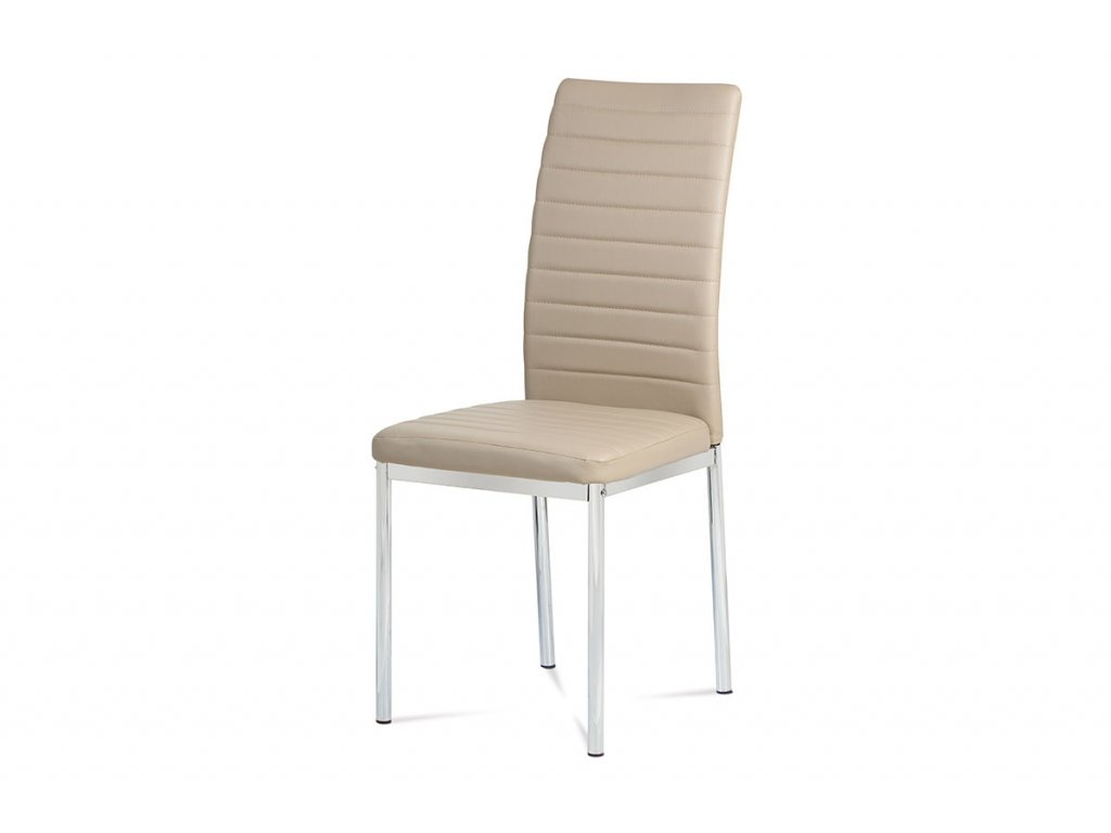 Jídelní židle cappuccino koženka / chrom